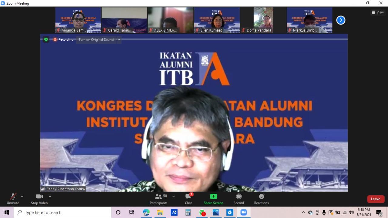 Dekan FMIPA Unsrat Prof. Dr. Benny Pinontoan, M.Sc. terpilih sebagai Ketua IA ITB Sulut