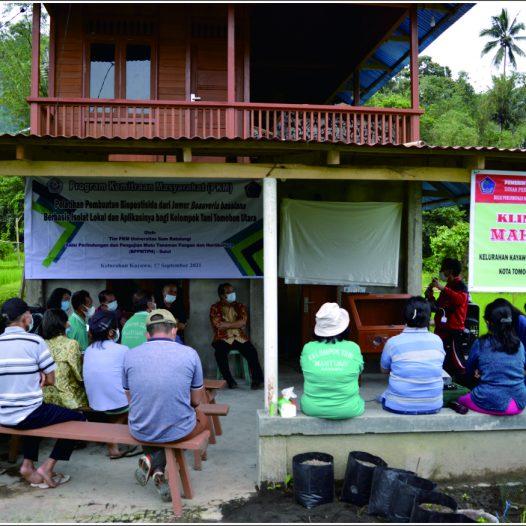Tim PKM Unsrat Bekerjasama dengan BPPMTPH Sulut