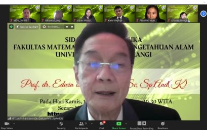 Purnabakti Prof. dr. Edwin de Queljoe, M.Sc., Sp.And (K) dilaksanakan dalam Sidang Senat Terbuka FMIPA Unsrat