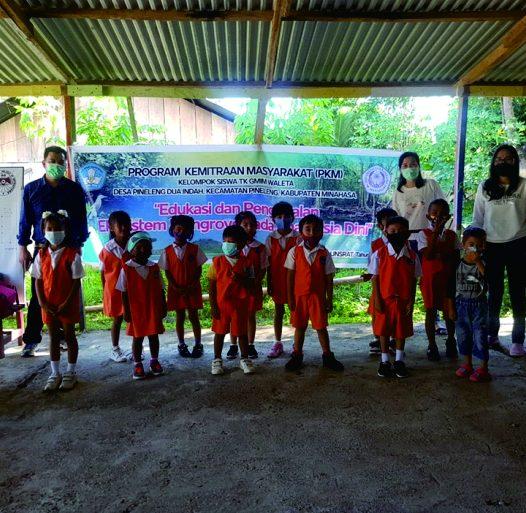 FMIPA Unsrat Gelar PKM tentang Edukasi dan Pengenalan Ekosistem Mangrove bagi Siswa TK GMIM Waleta Pineleng 2 Indah