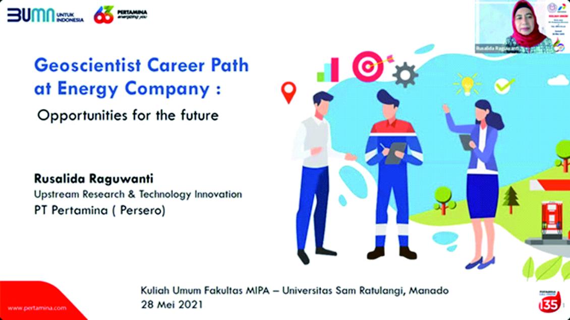 Upstream Research & Technology Innovation PT. Pertamina (Persero) berikan Kuliah Umum di FMIPA Unsrat